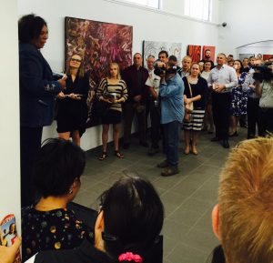 At the launch of Red Centre Art Trails in 2015